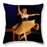 Cinderella At Home In Rags En Pointe With One Shoe After The Bal Throw Pillow