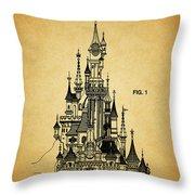 Cinderella Castle Patent Throw Pillow