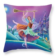 Cinderella Poster Throw Pillow by Anne Wertheim