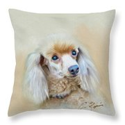 Cindy Throw Pillow by Charlie Roman