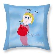 Cindy Lou Who Illustration  Throw Pillow