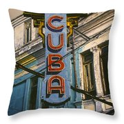 Cine Cuba Throw Pillow