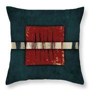 Cinnabar And Indigo One Of Two Throw Pillow