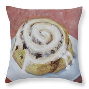 Cinnamon Roll Throw Pillow