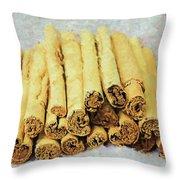 Cinnamon Sticks Throw Pillow