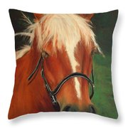 Cinnamon The Horse Throw Pillow