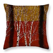 Cinque Betulle Throw Pillow