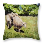 Cinque Pecora Throw Pillow