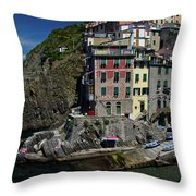 Cinque Terre Northern Italy Throw Pillow