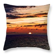 Cinque Terre - Sunset From Manarola - Panorama Throw Pillow