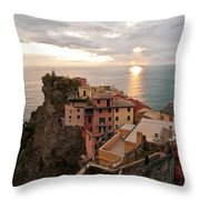 Cinque Terre Tranquility Throw Pillow by Mike Reid