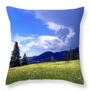 Cinquefoil Blossoms Throw Pillow