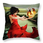 Circe, Greek Mythological Goddess Throw Pillow