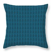 Circle And Oval Ikat In Black N18-p0100 Throw Pillow