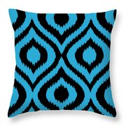 Circle And Oval Ikat In Black T02-p0100 Throw Pillow