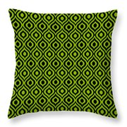 Circle And Oval Ikat In Black T09-p0100 Throw Pillow