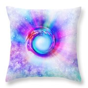 Circle Eye  Throw Pillow by Setsiri Silapasuwanchai