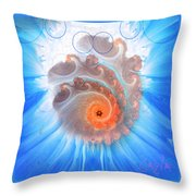 Circle Fire Blue Throw Pillow