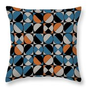 Circle Grid Throw Pillow