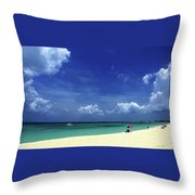 Circle Of Clouds On Grand Cayman Throw Pillow