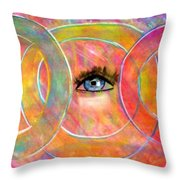 Circle Of Eyes Throw Pillow