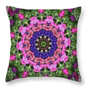Circle Of Flowers Throw Pillow