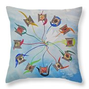 Circle Of Hearts Throw Pillow