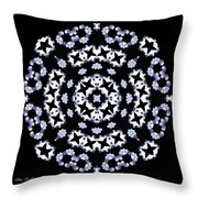 Circle Of Stars And Flowers Throw Pillow