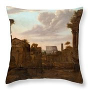 Circle Of View Over Rome Throw Pillow