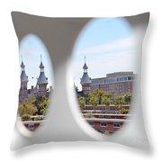 Circle Ot Tampa Throw Pillow