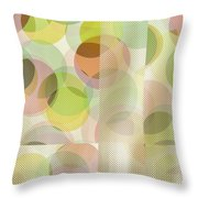 Circle Pattern Overlay II Throw Pillow