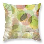 Circle Pattern Overlay Throw Pillow