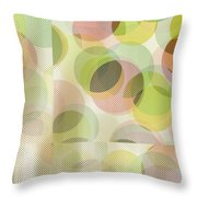 Circle Pattern Overlay Throw Pillow