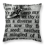 Circled Is The Word Love Throw Pillow