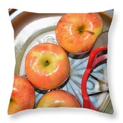 Circles 1 - Apples Throw Pillow