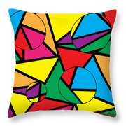 Circles Affecting Triangles  Throw Pillow
