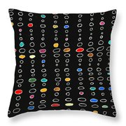 Circles And Lines 3 Throw Pillow