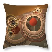 Circles And Rings Throw Pillow