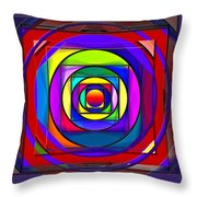 Circles And Squares Abstract Throw Pillow