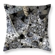 Circles And Stars Throw Pillow