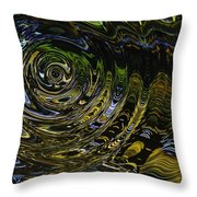 Circles And Swirls Throw Pillow
