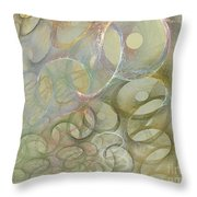 Circles In Circles Throw Pillow
