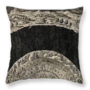 Circles Of Hell And Limbo, Jan Wierix Throw Pillow