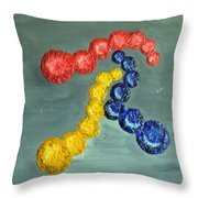 Circles Of Life Throw Pillow