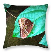 Circles On Wings Throw Pillow
