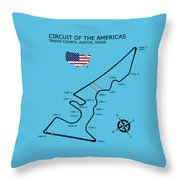Circuit Of The Americas Throw Pillow
