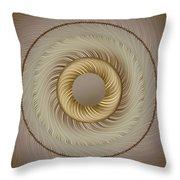 Circular Abastract Art 5 Throw Pillow