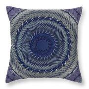 Circular Abstract 9 Throw Pillow