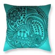 Circular Art Throw Pillow