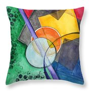 Circular Confusion Throw Pillow